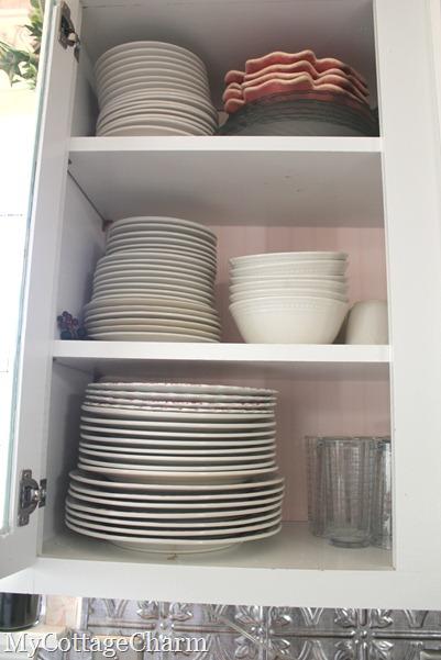 tips for organzing open shelves