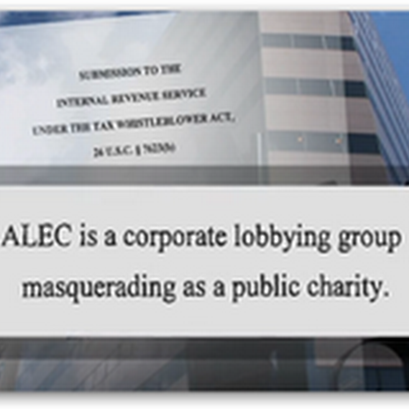 When You Have ALEC, Who Needs Lobbyists…Teaching State Law Makers How To Cash in on Models for Profit With Private Industry…Update from Bill Moyer