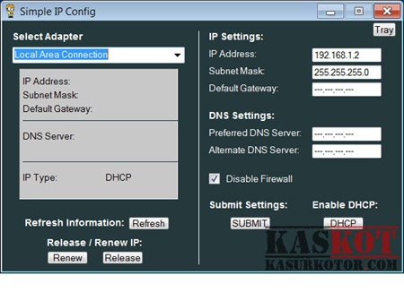 Mengubah Settingan Network Connection di Windows - Simple IP Config