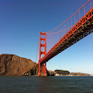 View of Golden Gate Bridge from a boat