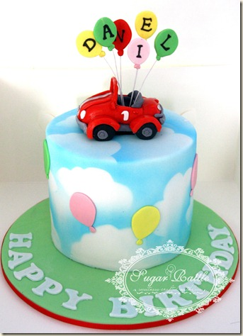 Birthday Cake Pictures For 1 Year Old Boy : Sugar Rattle s Journey: Car and balloons for the 1 year ...