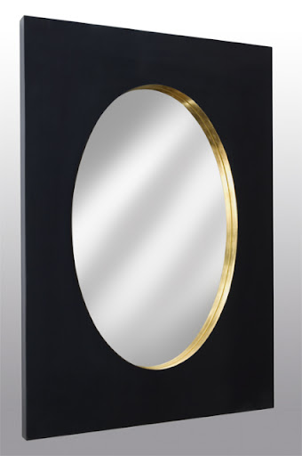 This Rue Jacob Mirror is the perfect combination of elegance and simplicity. I love how the reflected gold cutout gives both depth and light to the deep black frame.