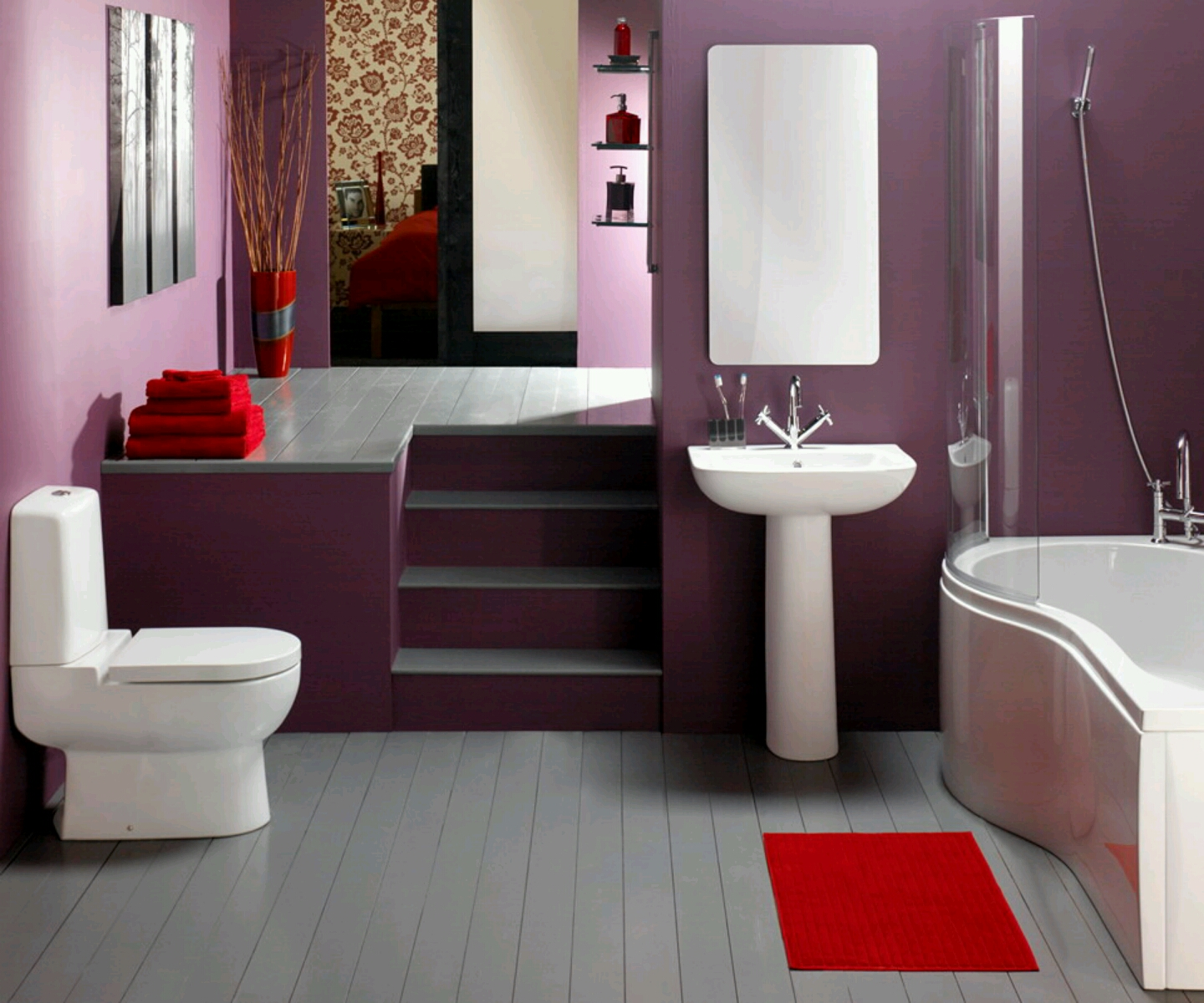 Nice House Decorating Ideas: Mis Decoraciones: Baños Con Acabados En Morado