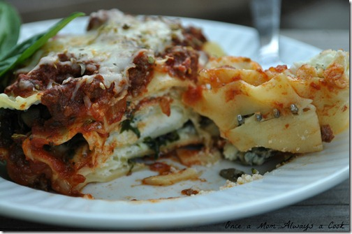 Take a bite lasagna roll up