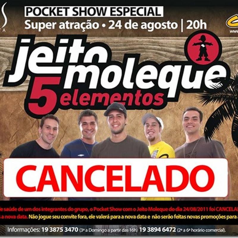 Jeito Moleque: Pocket Show na Pepi's foi Cancelado