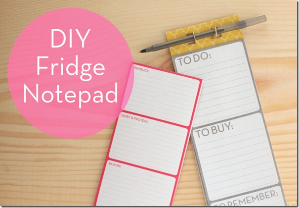 DIY Notepad Curbly