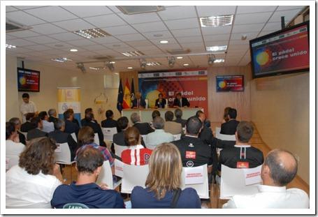 Pádel Pro Tour y la Federación Española de Pádel firman en el CSD de Madrid un acuerdo histórico para el futuro del pádel REUNION