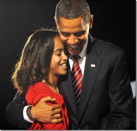 President Obama and Malia