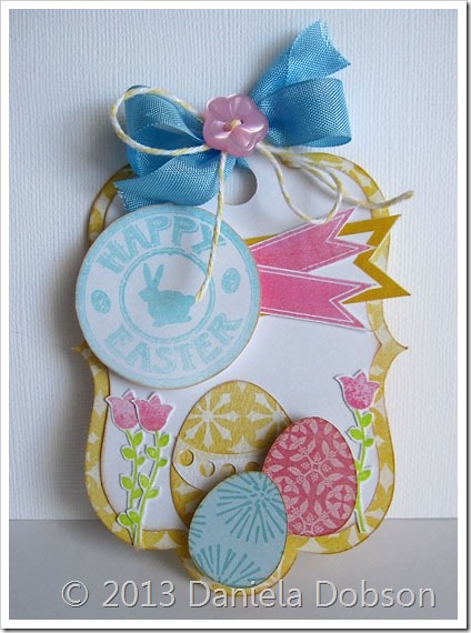 Happy easter tag by Daniela Dobson
