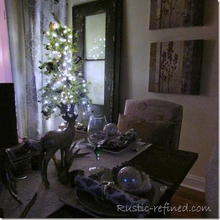 Christmas Tablescape Roaming Deer @ Rustic-refined.com