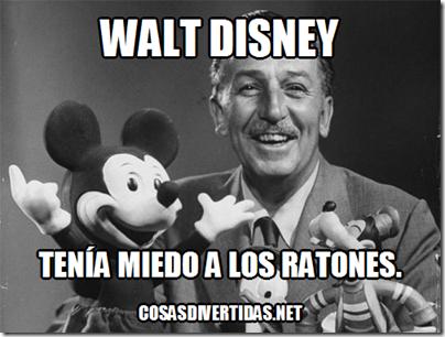 Walt Disney miedo a los ratones.