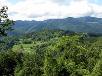 Pogled čez Poljansko dolino