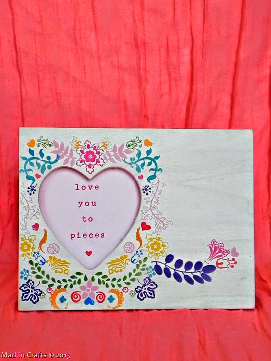 Rosemaling Frame with Valentine's Message