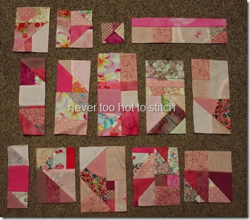 first pink blocks