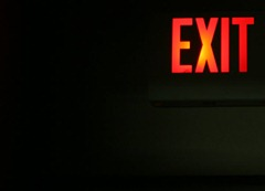 sign to exit