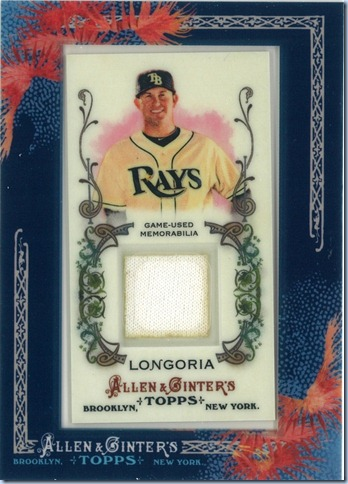 2011 A&amp;G Longoria Jersey
