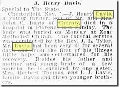 J. Henry Davis Obit