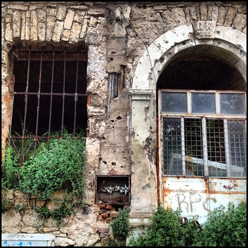 War time scars in Mostar