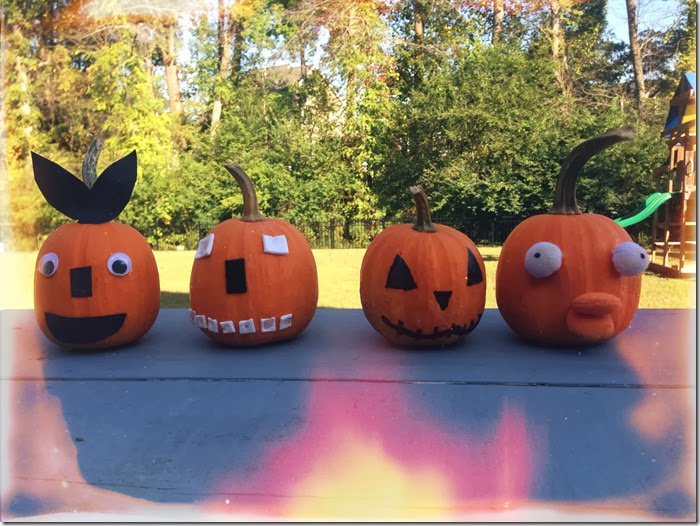 Our Spookified DIY Pumpkins