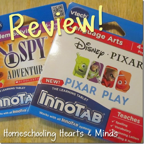 Review of I Spy Adventure and Pixar Play for Innotab 3S at Homeschooling Hearts & Minds