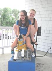 Tony Kent go carts..lily and katie horsing around 9