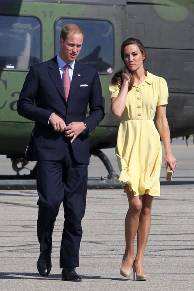 Kate Middleton arrive in Calgary
