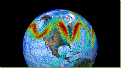 wavy northern hemisphere jet stream