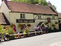 Stop for lunch at the Red Lion.