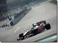 Hamilton nelle prove libere del gran premio della Malesia 2012