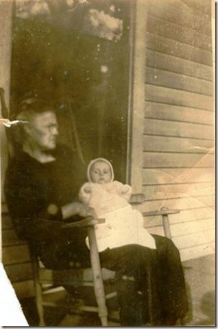 Kate Roberts holding Mama