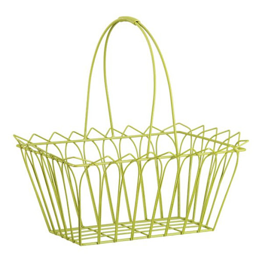 This is a contemporary take on the traditional Easter basket. (Green Wire Basket, Crate and Barrel)