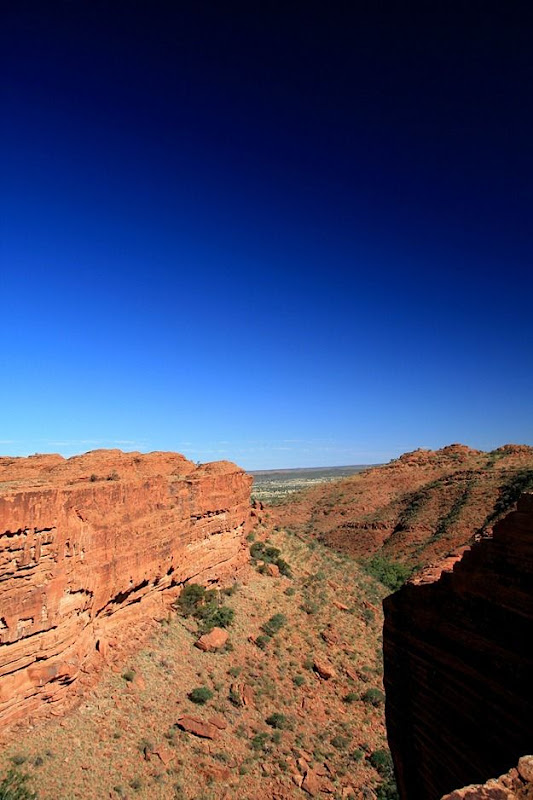 Cliff walls canyon rock formation Kings Canyon outback Australia 2