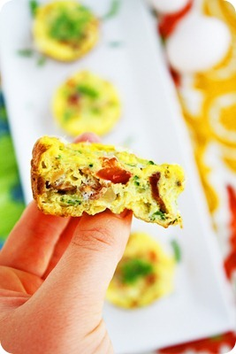 Mini Vegetable and Bacon Frittatas Recipe