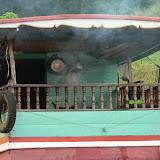 Les sampans, embarcations qui relient les villages du Mekong