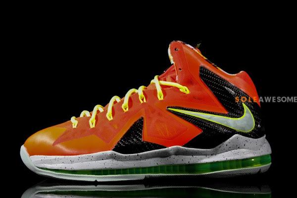 Nike LeBron X PS Elite 8211 Red  Volt  Black 8211 New Images