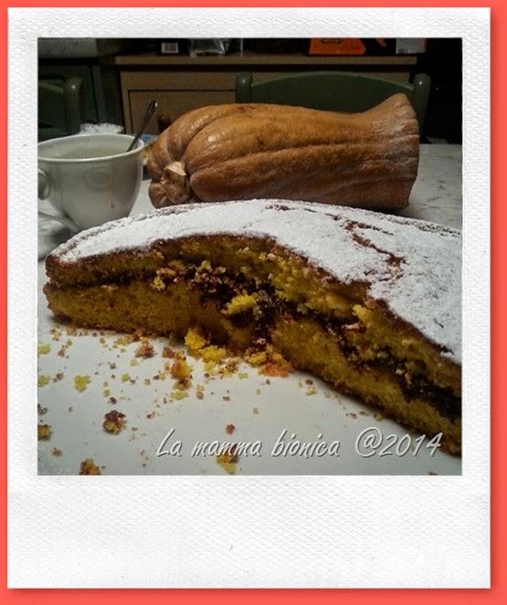 torta di zucca con Nutella