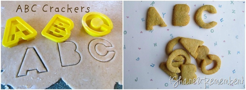 ABC crackers collage