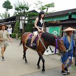 riding a horse at Edo Wonderland in Nikko, Totigi (Tochigi) , Japan