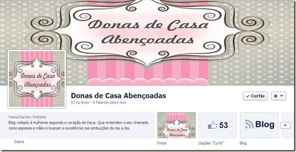 Donas de Casa Abençoadas no Facebook