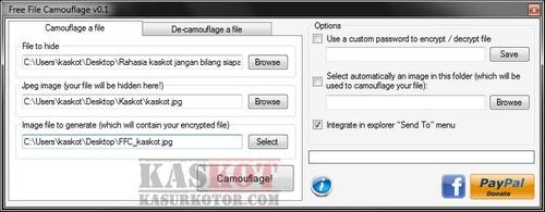 Menyembunyikan File di Dalam Gambar JPEG - Camouflage