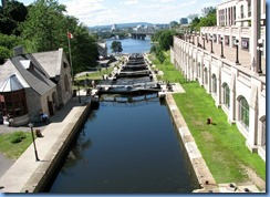 6607 Ottawa - Rideau Canal Locks looking north from Plaza Bridge