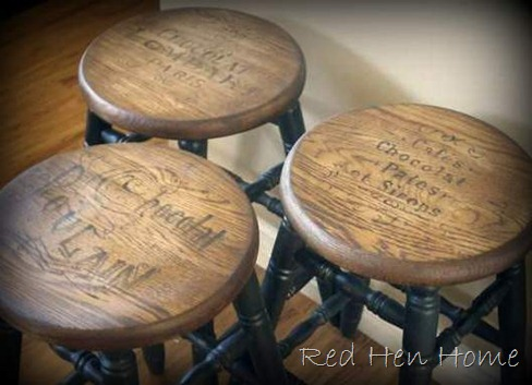 vintage ad stools