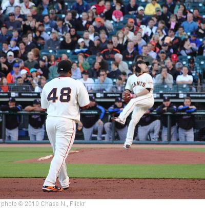 'Tim Lincecum and Pablo Sandoval' photo (c) 2010, Chase N. - license: http://creativecommons.org/licenses/by-sa/2.0/