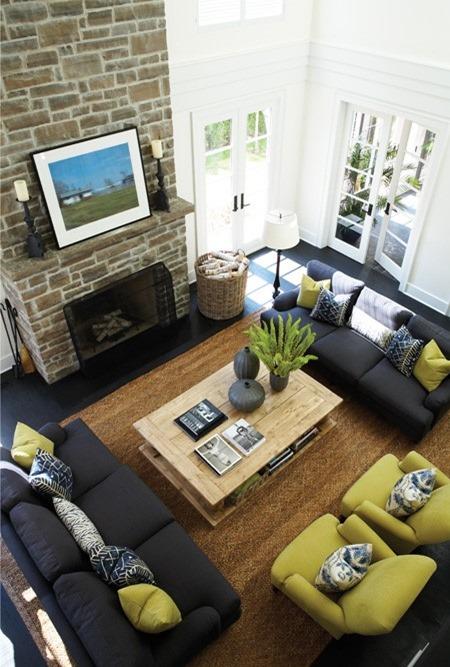 living room rug size