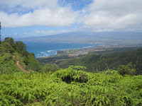 Looks down at Kahului from Waihe'e Ridge.