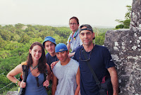 I got my first passport when I was sixteen for a family vacation in Belize and Guatemala. In this picture we are on top of one of the large temples at Tikal in the Peten region of northern Guatemala. I will never forget coming around a bend in the trail and for the first time seeing one of the great Mayan temples emerge from the trees. I still lack the words to properly describe that feeling of unlooked for aesthetic arrest.