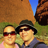 Fighting The Blazing Sun At Walpa Gorge in Kata Tjuta - Yulara, Australia