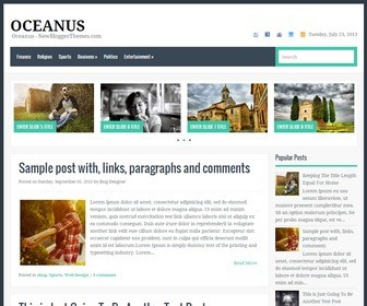 Oceanus-Blogger-Template