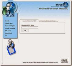 laman pencarian data NISN siswa
