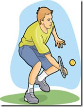 Man Playing Tennis Clipart